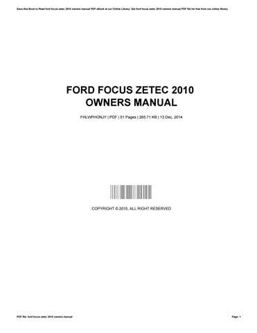ford focus zetec 2010 owners manual by brandylewis4150 issuu rh issuu com 2010 ford focus owners manual canada ford focus 2010 owners manual pdf