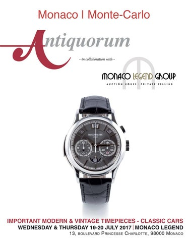 ae8f67d67c76 Monaco   Monte - Carlo   19-20-21 July, 2017 by Antiquorum Genève SA ...