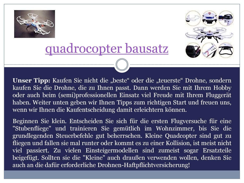 Quadrocopter Bausatz By Mit Hd Kamera