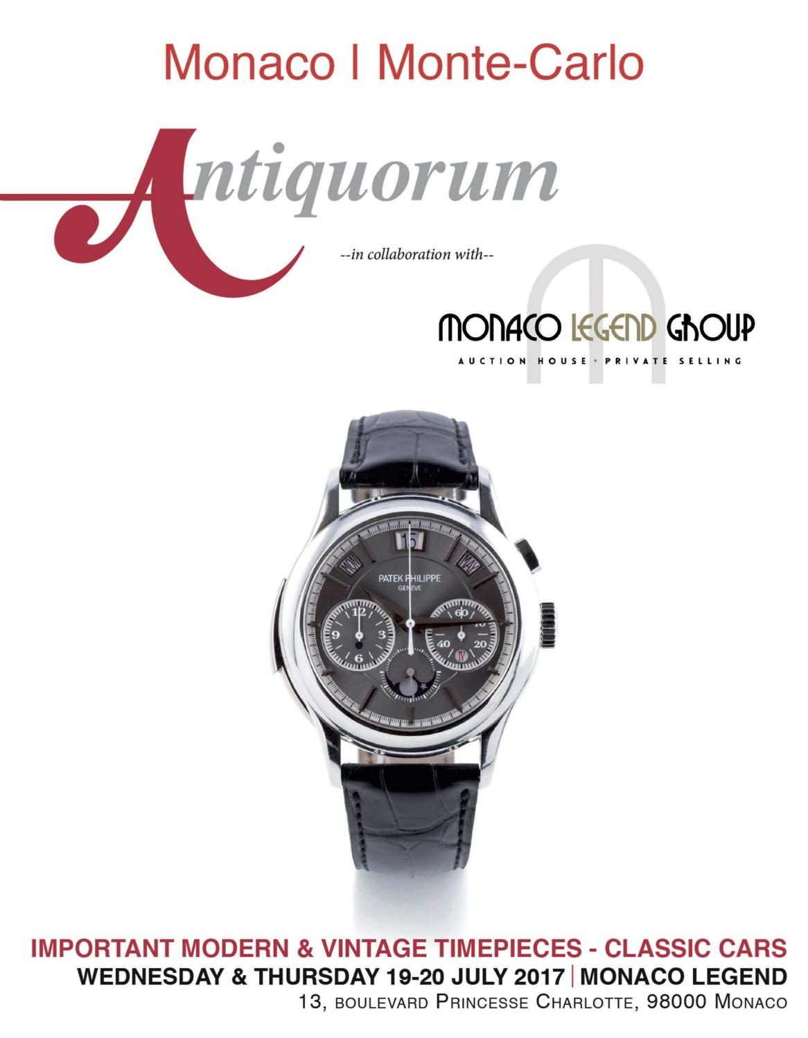 Important Modern & Vintage TimePieces - Classic Cars by Antiquorum Genève  SA - issuu