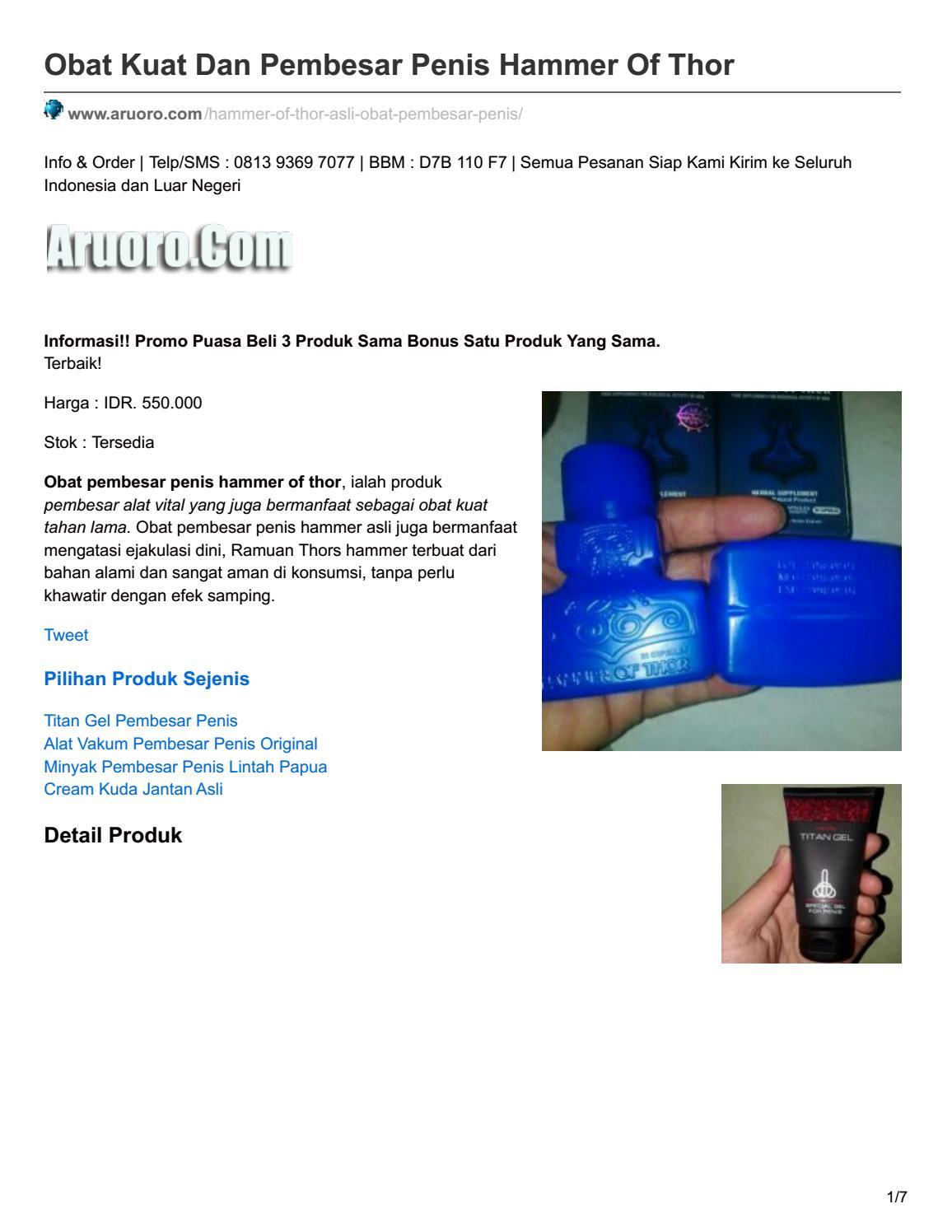 aruoro com obat kuat dan pembesar penis hammer of thor by aruorocom issuu