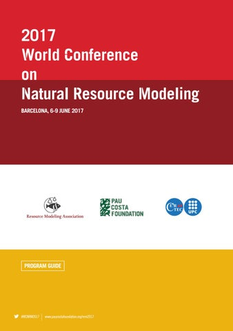 Booklet World Conference On Natural Resource Modeling 2017 By
