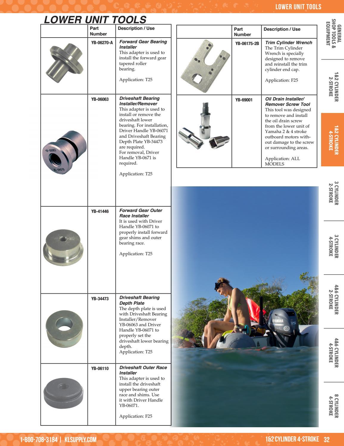 2017 Yamaha Marine Specialty Tool Catalog by K&L Supply