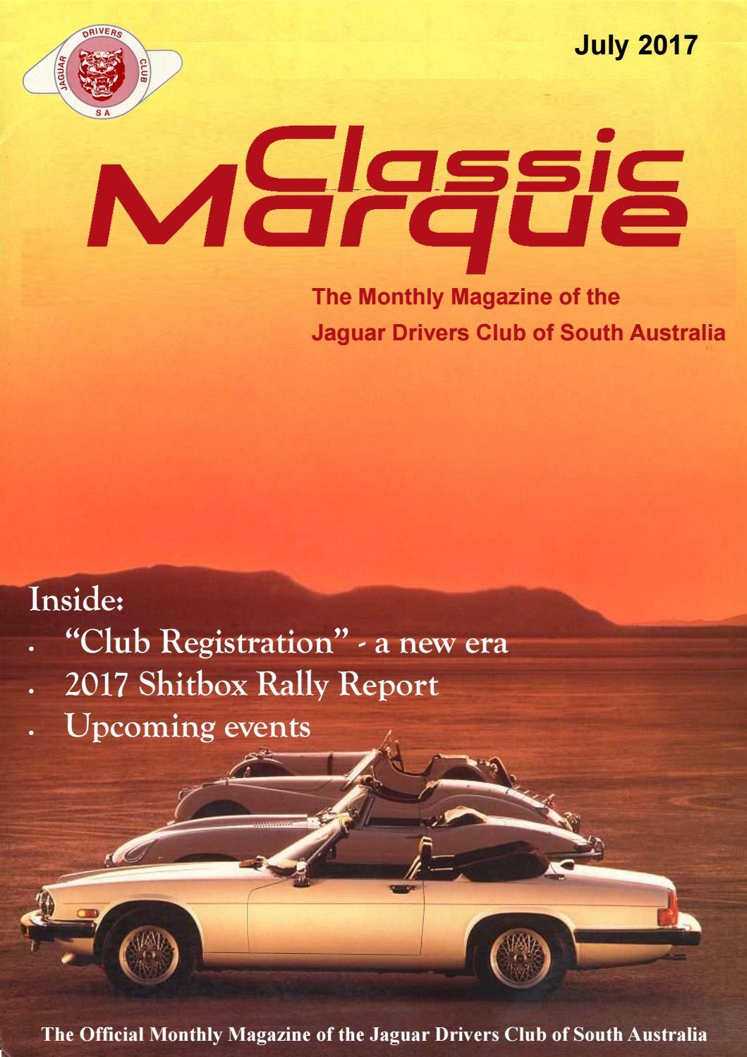 Classic Marque July 2017 by Jaguar Drivers Club of SA - issuu