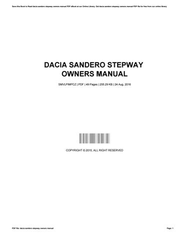 dacia sandero stepway owners manual by michellekeever2338 issuu rh issuu com dacia duster instruction manual dacia sandero user guide