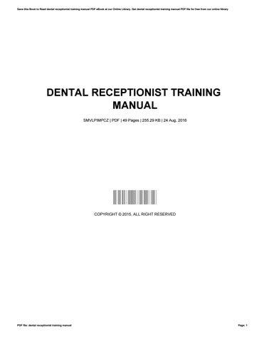 receptionist training manual