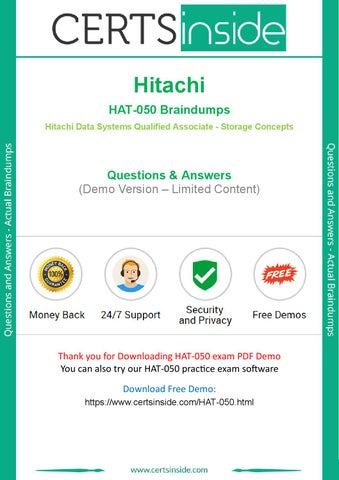 Hitachi Data Systems Qualified Associate Storage Concepts Test HAT-050 Exam QA