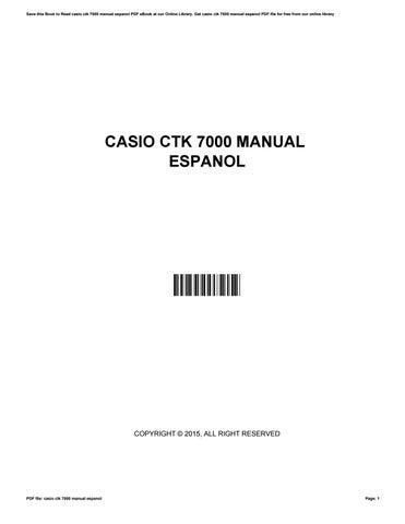 casio ctk 7000 manual espanol by jamespurnell2783 issuu rh issuu com