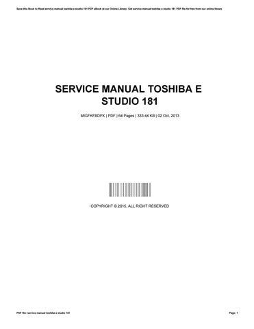 toshiba e studio 181 service manual free download