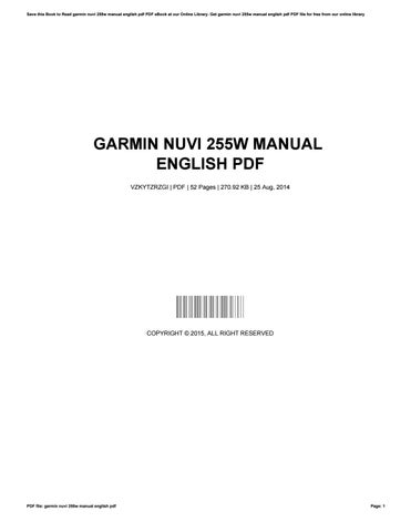 My Garmin Nuvi 255W GPS navigator | The 8th Voyager