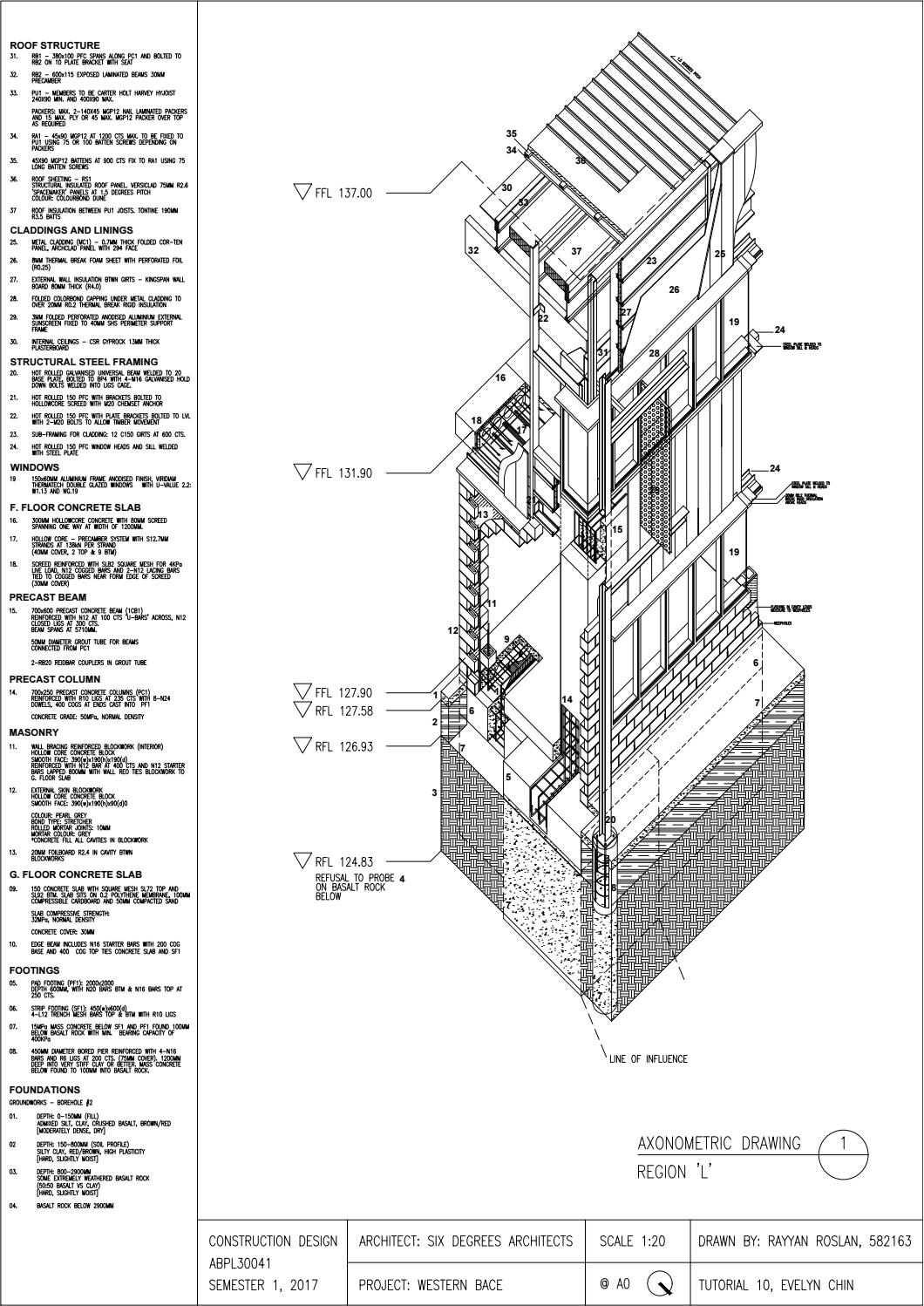 Construction Design Abpl30041 Axonometric Drawing By