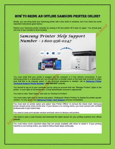 Samsung Printer Technical Support by Tony Roy - issuu