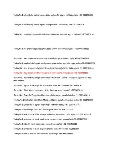 Meerut no1 symptoms of aghori black magic victim by baba ji +91