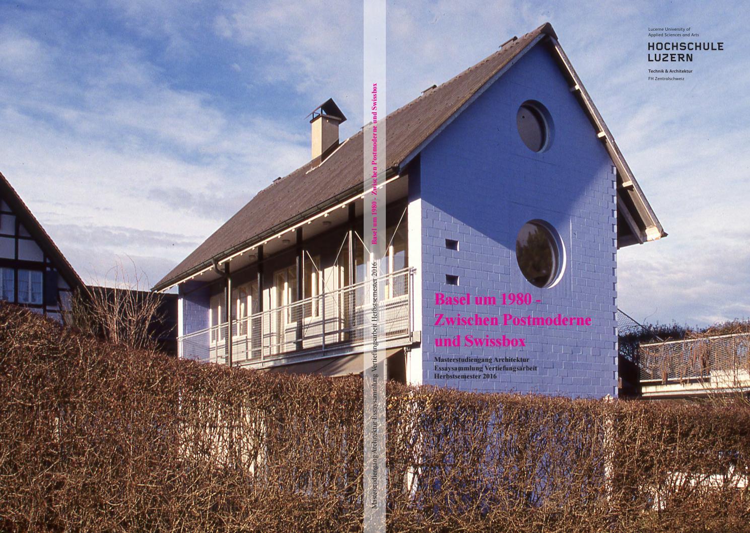Basel um 1980 zwischen postmoderne und swissbox by - Postmoderne architektur ...