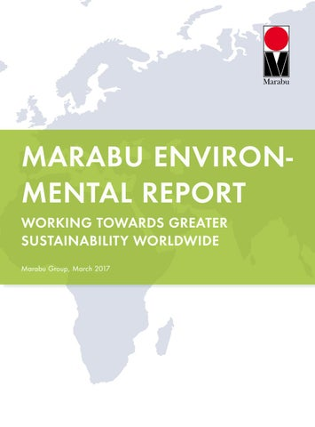 Marabu Gmbh marabu environmental report 2017marabu gmbh & co. kg - issuu
