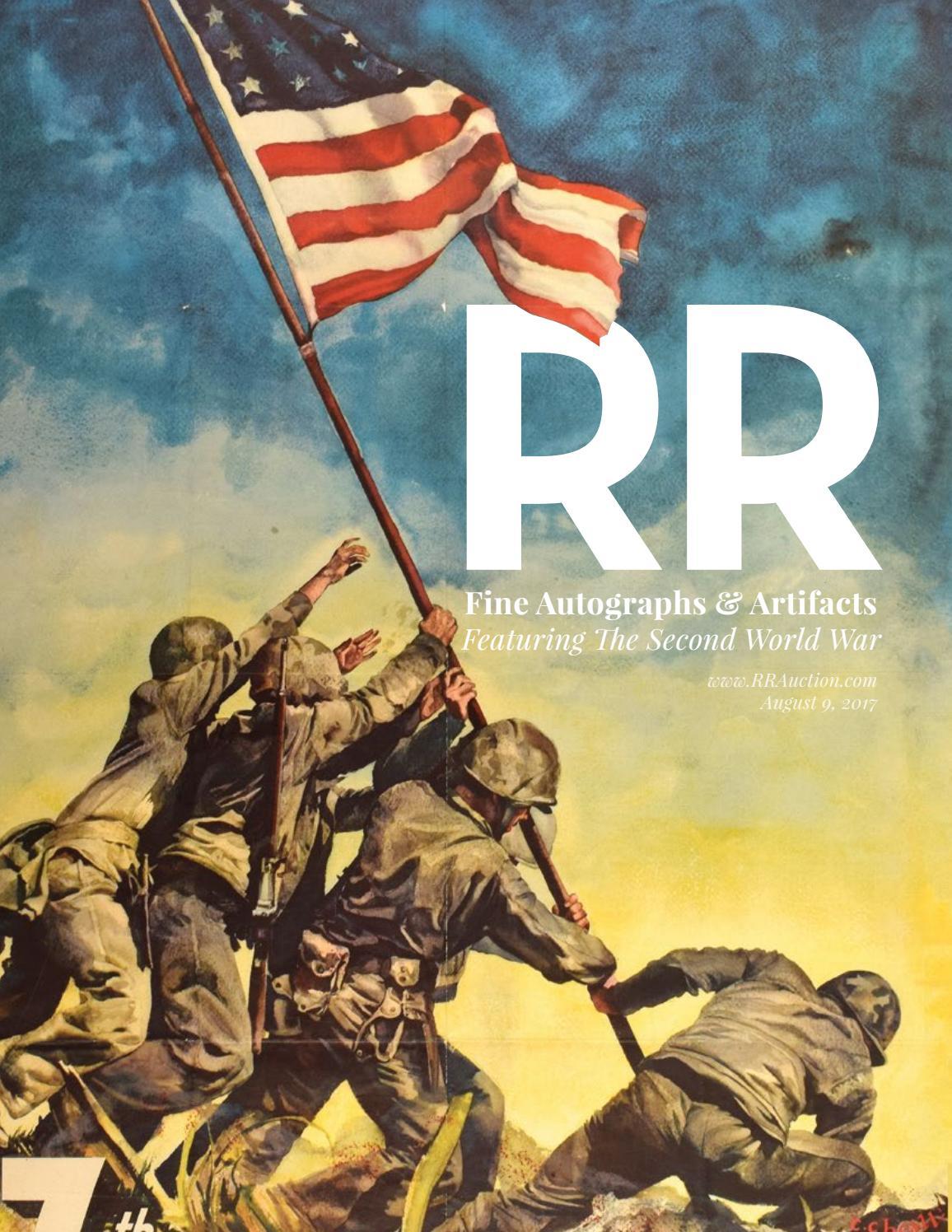 Rr Autograph Auctions Consignment Agreement: RR Auction: August 2017 Fine Autograph And Artifact