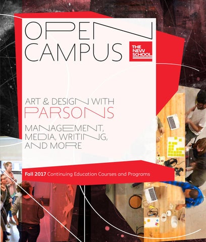 Open campus courses fall 2017 by the new school issuu fall 2017 continuing education courses and programs fandeluxe Image collections
