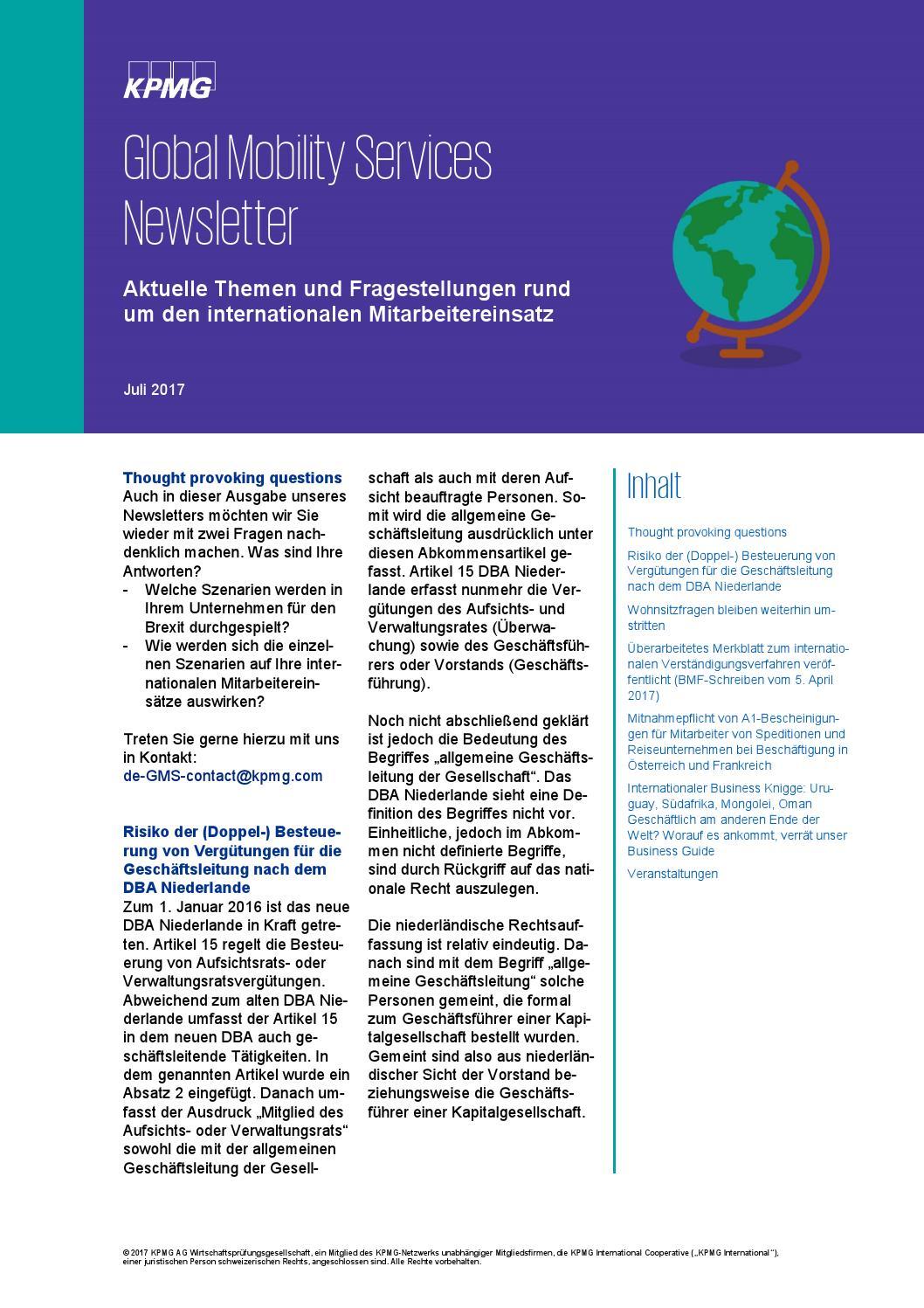 Gms Newsletter Juli By Kpmg De Issuu