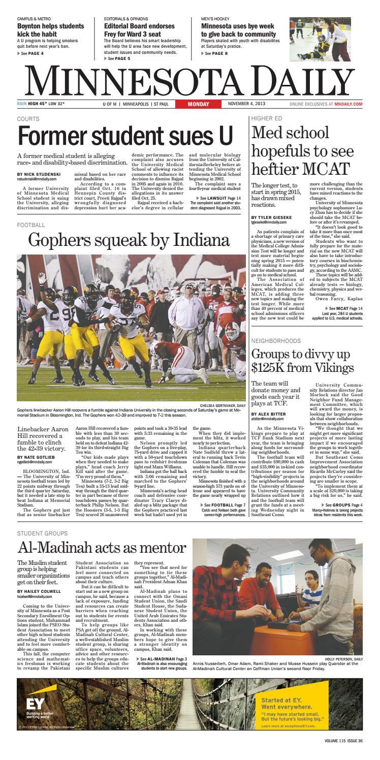 November 4, 2013 by The Minnesota Daily - issuu