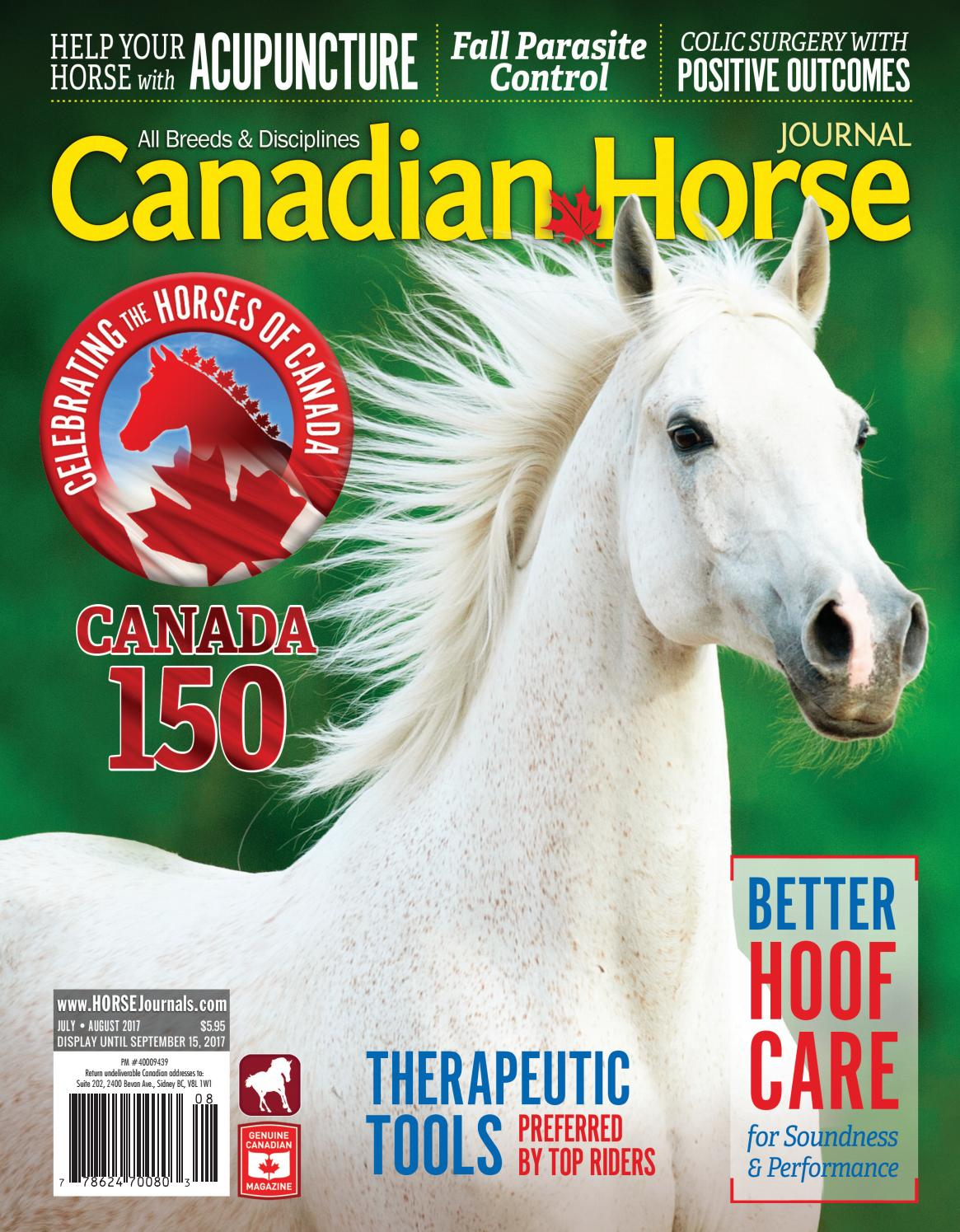 Canadian Horse Journal - SAMPLE - July August 2017 by Horse ...