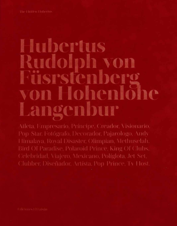 Hubertus Rudolph Von Füsrstenberg Von Hohenlohe Langenbur By