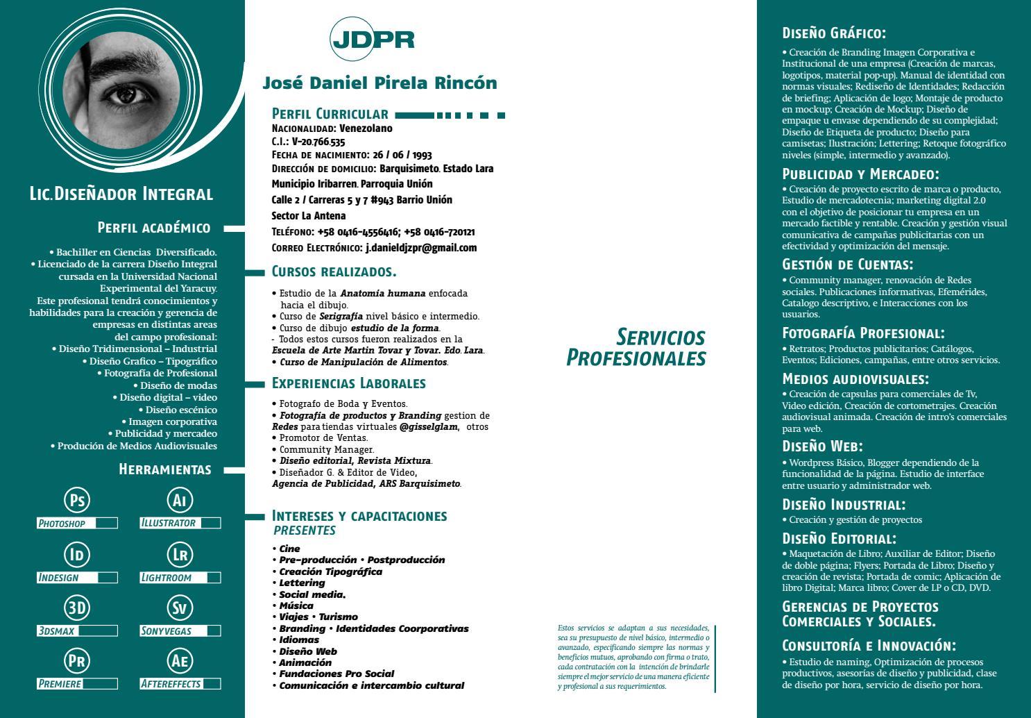 CV / JDPR by Jose Daniel - issuu