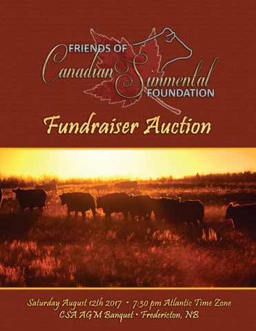 Friends of Canadian Simmental Foundation 2017 Sale