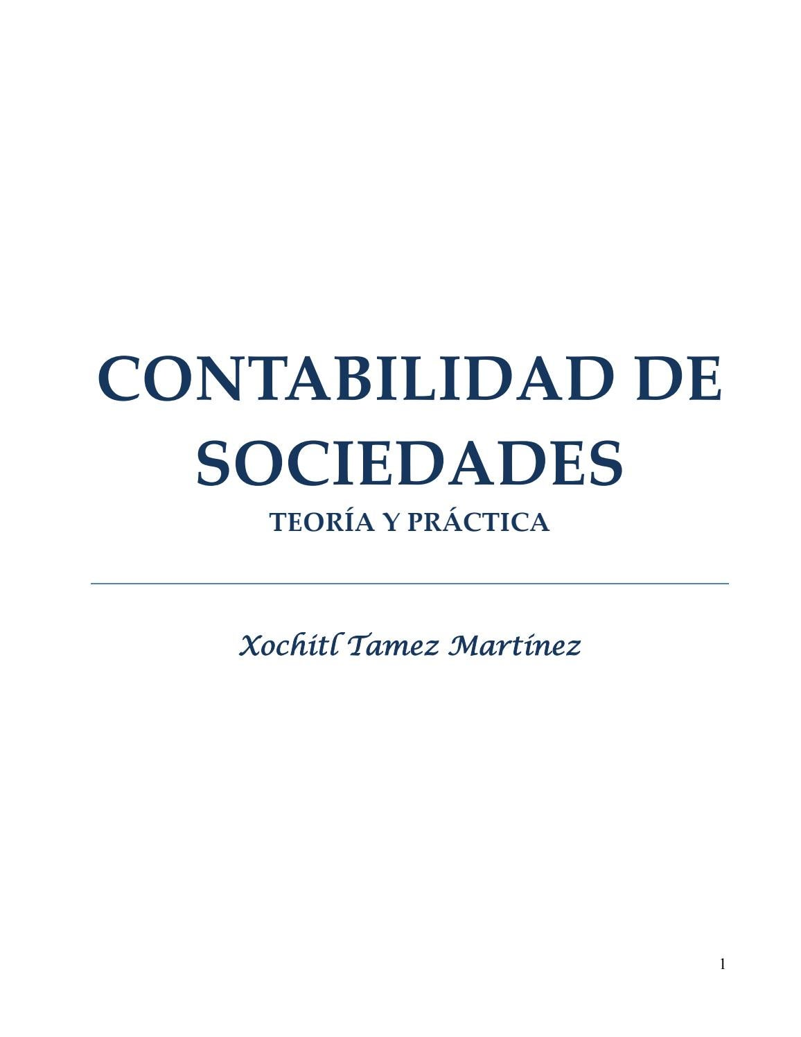 Libro contabilidad de sociedades by Marvin Enrique Soto Alvarado ...