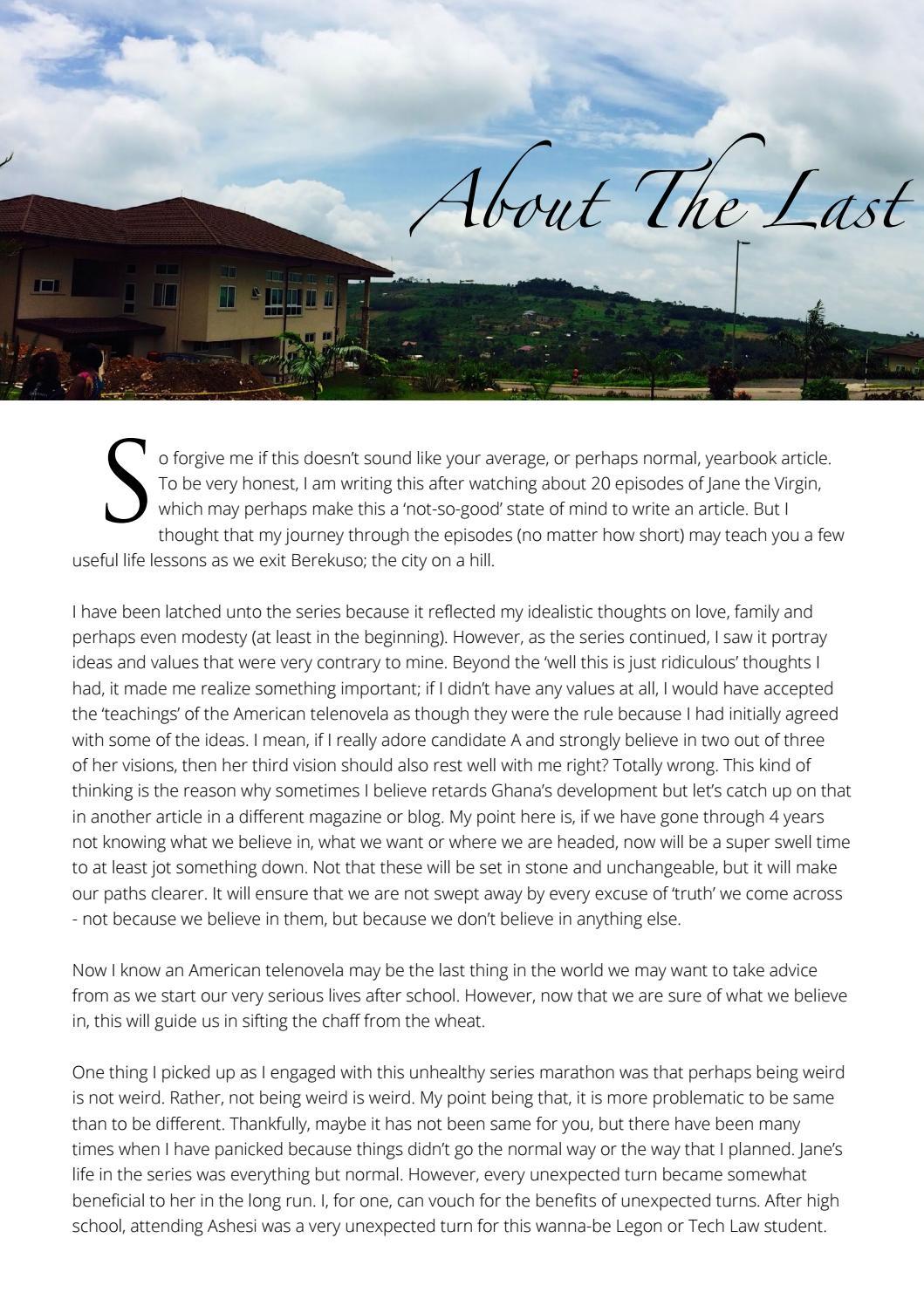 Ashesi Class of 2017 Senior Yearbook by Ashesi Yearbook - issuu