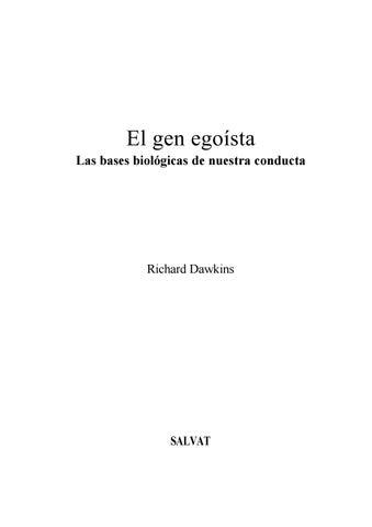El gen egoista by Alvaro Silva - issuu