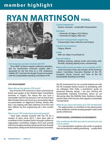 Page 30 of Member Highlight - Ryan Martinson