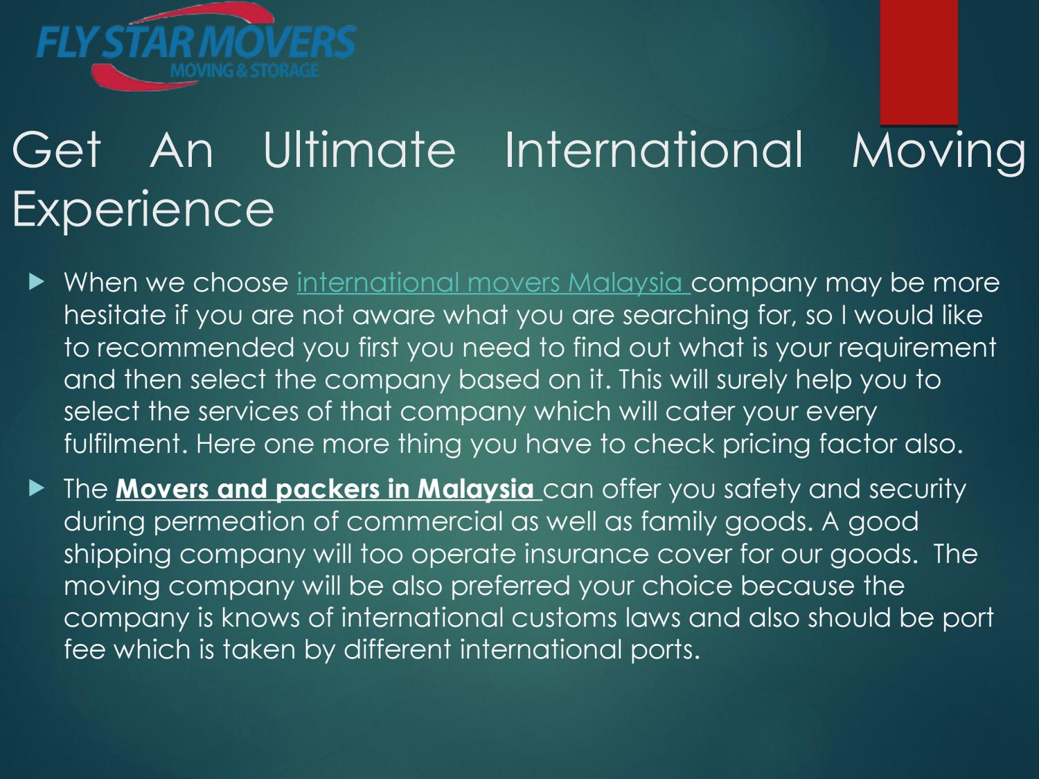 Get An Ultimate International Moving Experience
