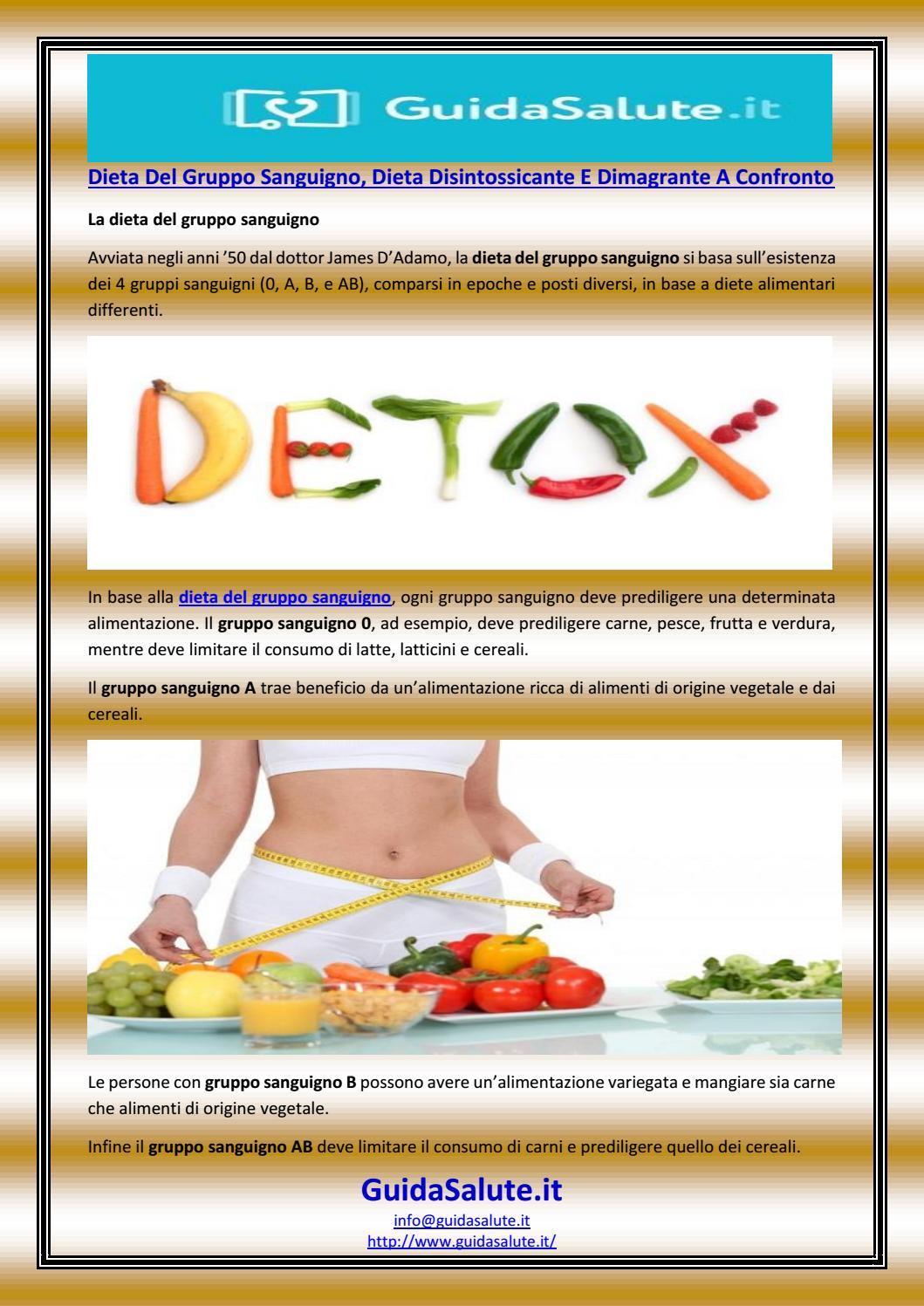 dieta dimagrante in base al gruppo sanguigno