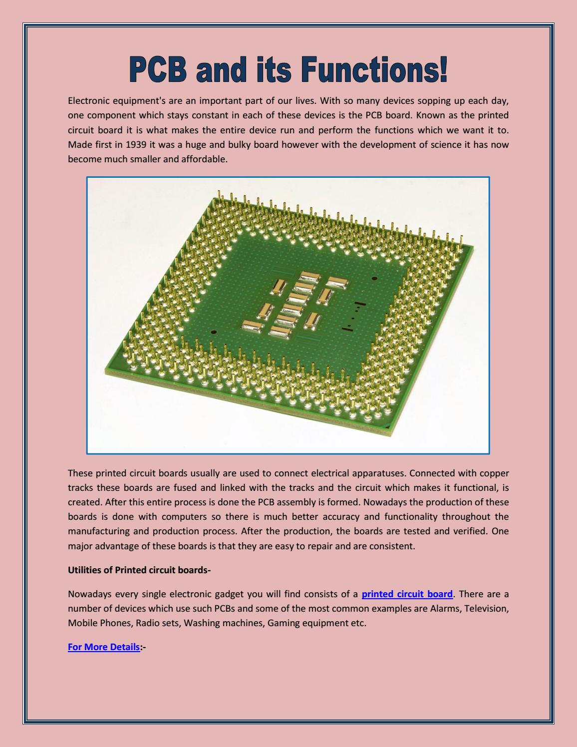 Pcb And Its Functions By Standard Issuu Printed Wiring Board Function