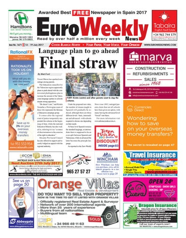 122420c73f7c31 Euro Weekly News - Costa Blanca North 13 - 19 July 2017 Issue 1671 ...