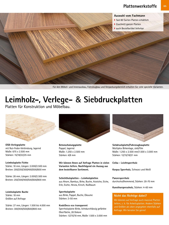 Sperrholz M/öbelbau Pappel 800 x 400 x 6 mm