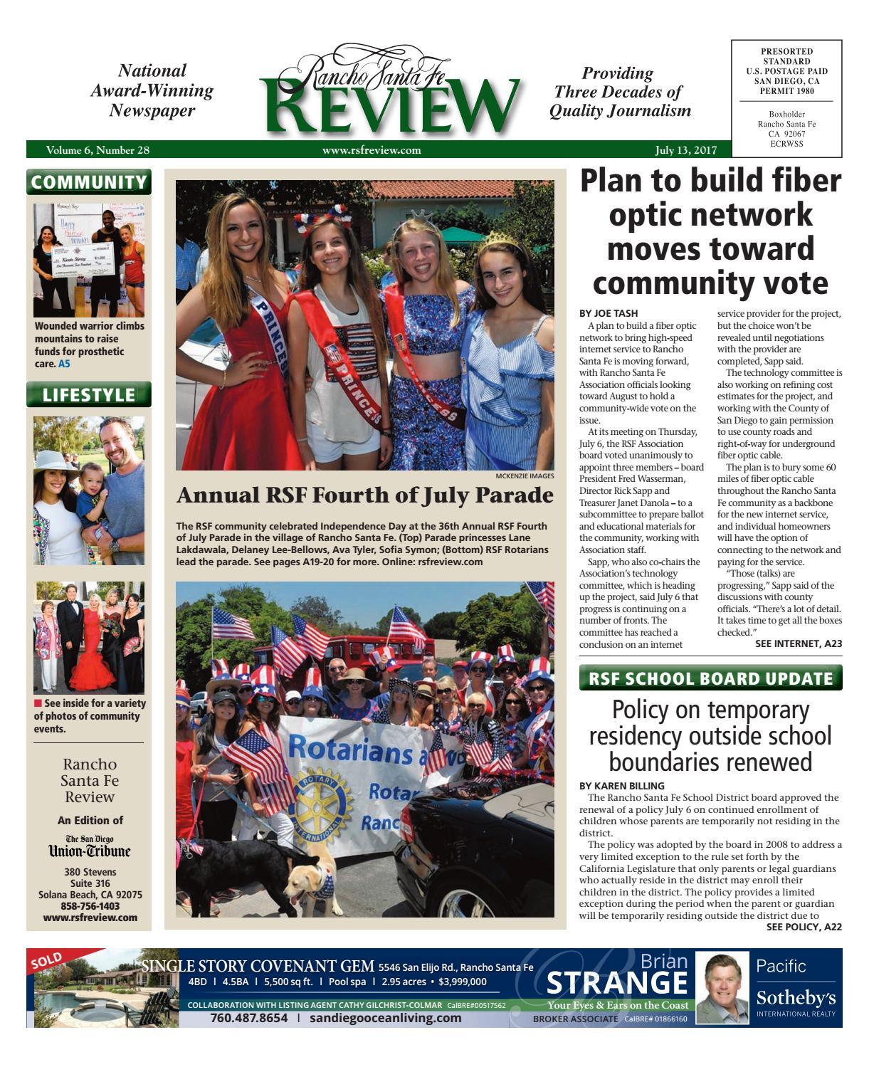 5278427b92 Rancho Santa Fe Review 07.13.17 by MainStreet Media - issuu