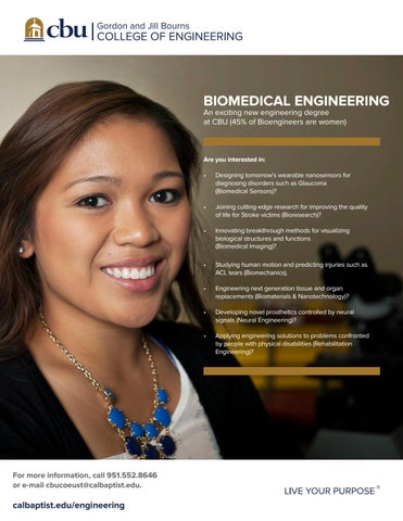 Bs Biomedical Engineering By California Baptist University  Issuu