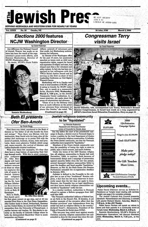 March 3, 2000 by Jewish Press - issuu