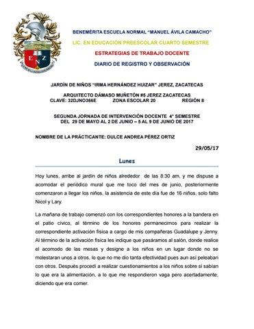 29 Diario De Registro Y Observacion Ultima Practica By Dulce Andrea