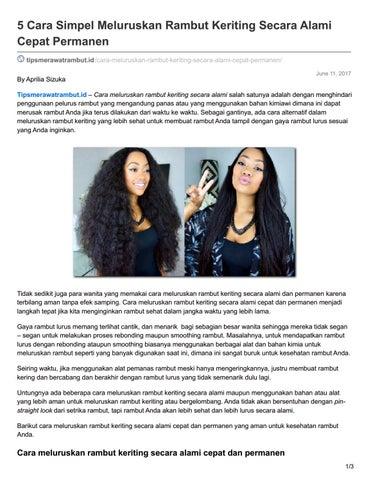 5 Cara Simpel Meluruskan Rambut Keriting Secara Alami Cepat Permanen  tipsmerawatrambut.id  cara-meluruskan-rambut-keriting-secara-alami-cepat- permanen  By ... 549d507c33