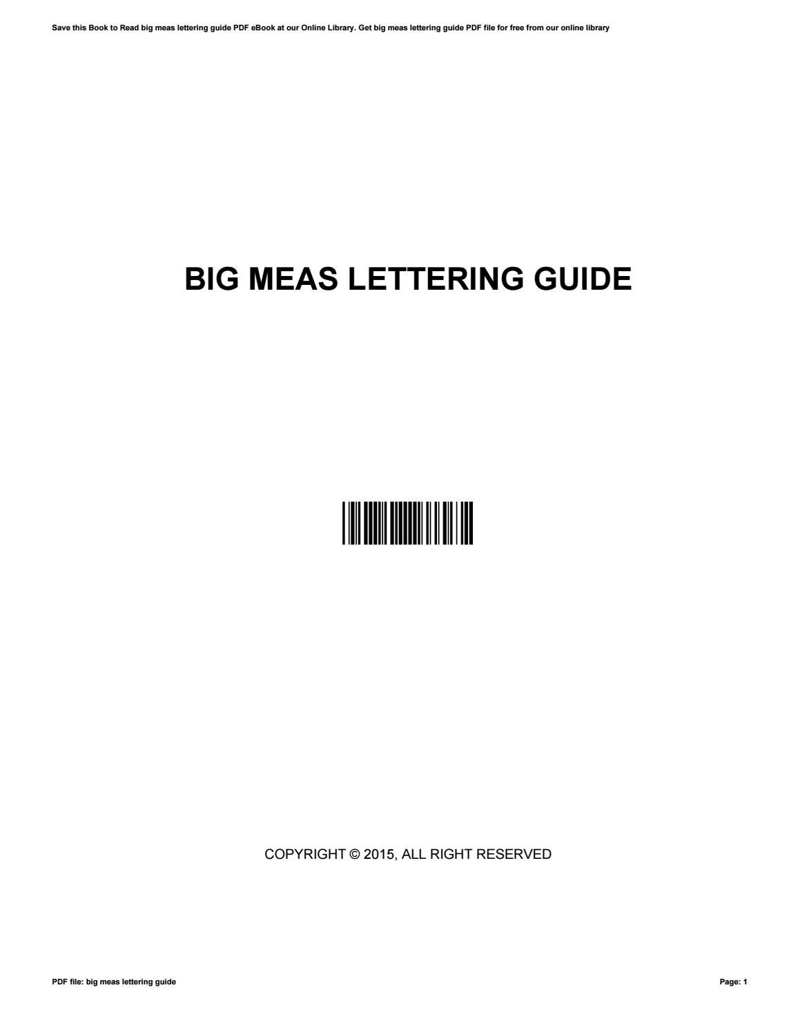Big Meas Lettering Guide By Yvonnemartin4848 Issuu