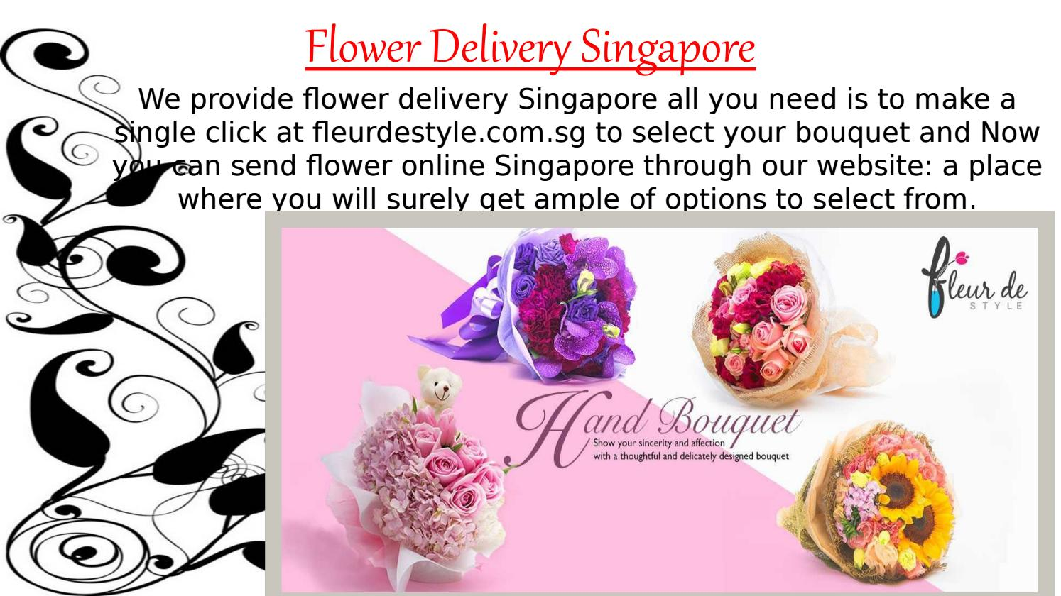 Flower Delivery Singapore Fleurdestyle By Ronald Martino