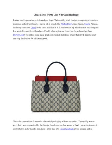 Create A Drool Worthy Look With Gucci Handbags By Darveys Issuu