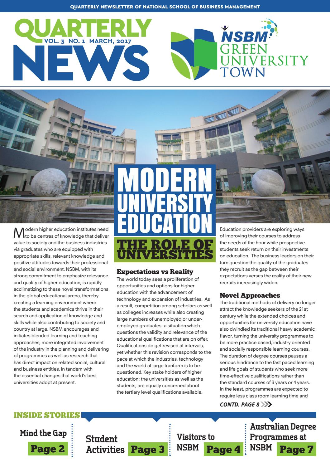 Nsbm Newsletter Vol 3 No 1 2017 By Design Factory Issuu