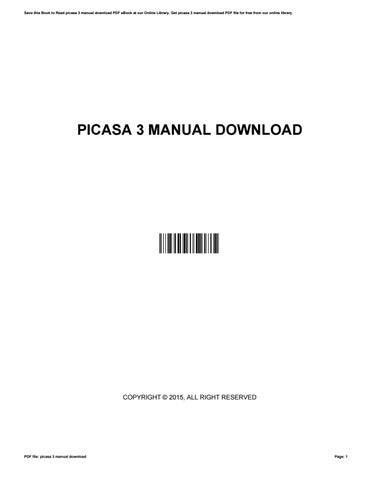 picasa 3 manual download by jameshandley1605 issuu rh issuu com picasa 3 manual pdf guide picasa 3 manual