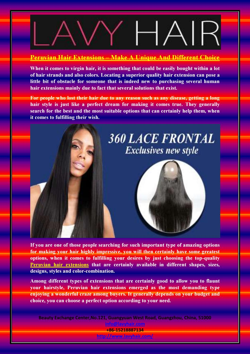 Peruvian Hair Extensions Make A Unique And Different Choice By