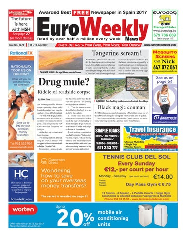 Euro weekly news costa del sol 13 19 july 2017 issue 1671 by page 1 fandeluxe Gallery