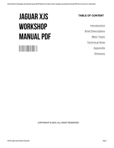 Jaguar xjs workshop manual pdf by williamtrott3105 issuu save this book to read jaguar xjs workshop manual pdf pdf ebook at our online library get jaguar xjs workshop manual pdf pdf file for free from our online sciox Gallery