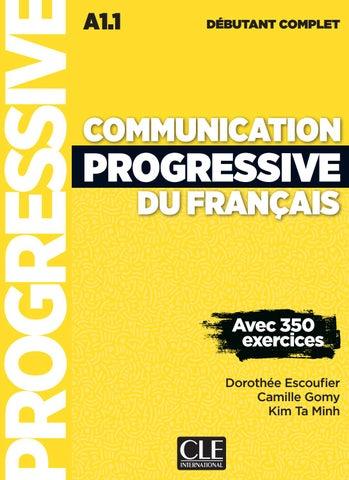 Communication Progressive Du Francais Debutant Complet By